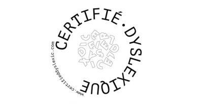 """Un logo """"Certified Dyslexic"""" pour indiquer sa dyslexie"""