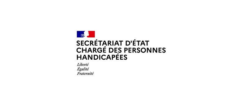 logo secrétariat d'etat charge personnes handicapees